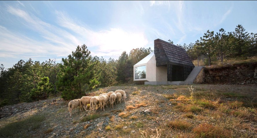 Divcibare house, mountain home, Serbia, Exe Studio, vernacular architecture, sloped roof, shingles, traditional architecture, locally sourced materials, timber