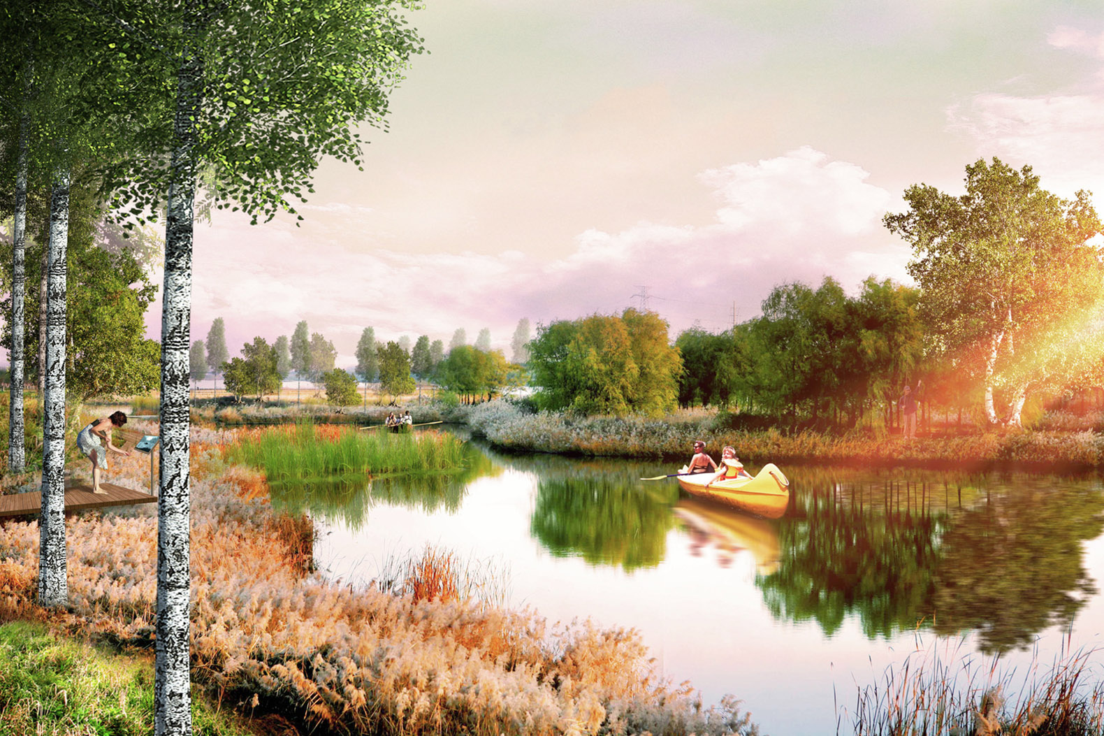 Turenscape and MAP Architects selected to redevelop Kazan Lake