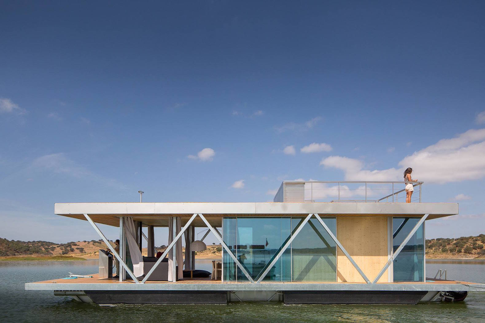 solar powered floatwing home in portugal generates a year u0027s worth