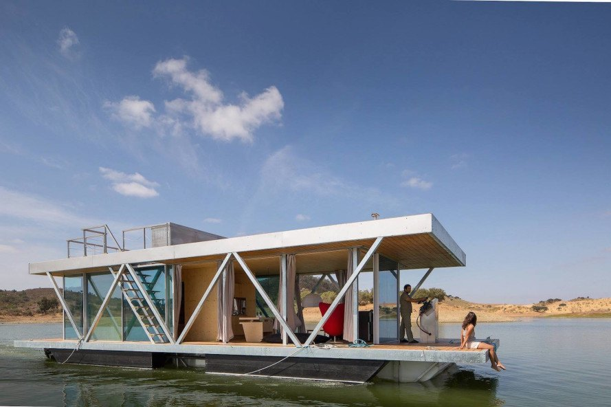 Solar Powered Floating Home In Portugal Generates A Year S