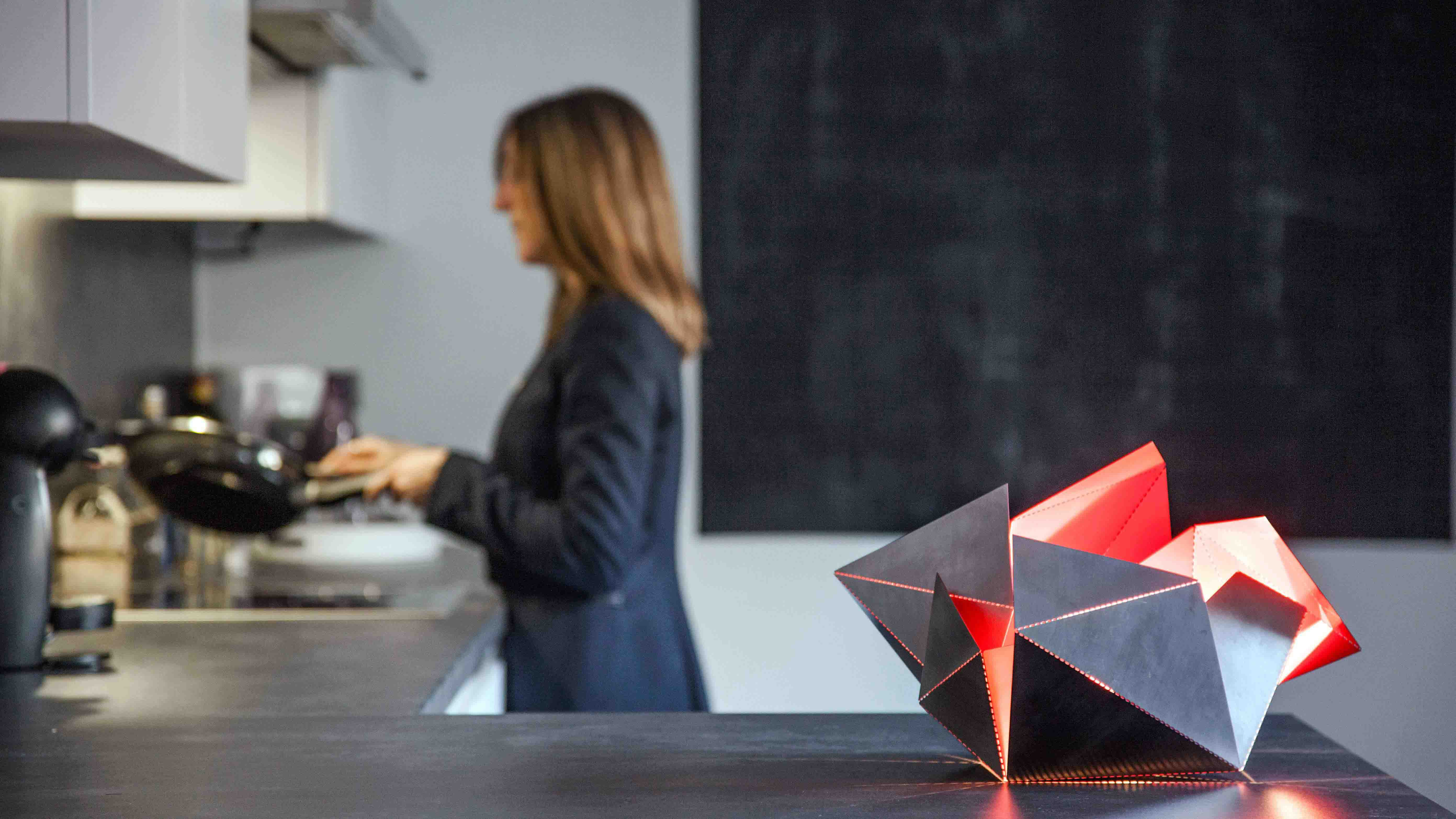 Origami lamp inhabitat green design innovation architecture the folding lamp lets you bend and fold your lamp like origami jeuxipadfo Gallery
