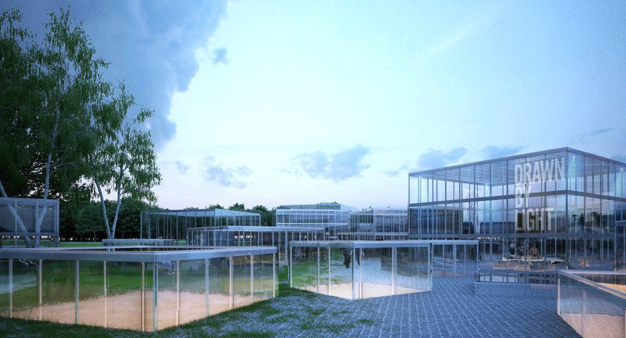 MenoMenoPiu Architects, The Hungarian Museum of Architecture and Fotomuzeum, Budapest, museum design, glass structure, concrete, concrete building, natural light, Hungary