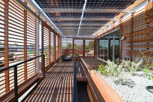 INhouse, solar decathlon, solar decathlon 2015, INhouse by California Polytechnic State University, INhouse by California Polytechnic State University for Solar Decathlon, solar panels, net zero home, greywater recycling, constructed wetland, structural insulated panels, home monitoring systems, window wall, water-smart architecture