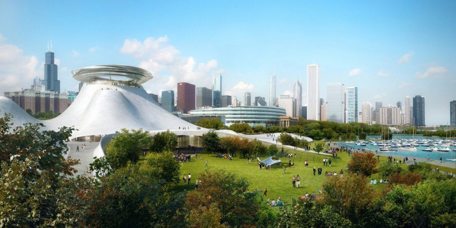 green design, eco design, sustainable design, MAD Architects, Lucas Museum of Narrative Art, Chicago, Museum Campus Park, Chicago City Council, Lake Michigan