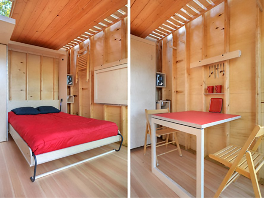 Lake Superior, dry flush toilet, off grid cabin, Baltic birch plywood, cabin, solar lanterns, rainwater collection, Nest, Nest cabin, rain screens, Bill Yudchitz, Daniel Yudchitz, Revelations Architects/Builders, Revelations Architects, Nest by Revelations Architects,
