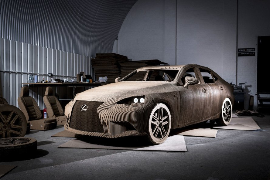 Lexus has created a drivable electric car made out of cardboard ...