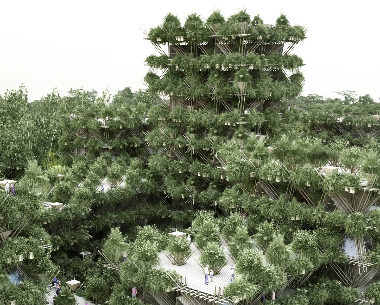 Penda Unveils Its Vision For A 20000 Person City Constructed Entirely From Bamboo