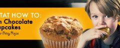 Vegan Pumpkin Chocolate Chip Cupcake recipe, Petey Rojas