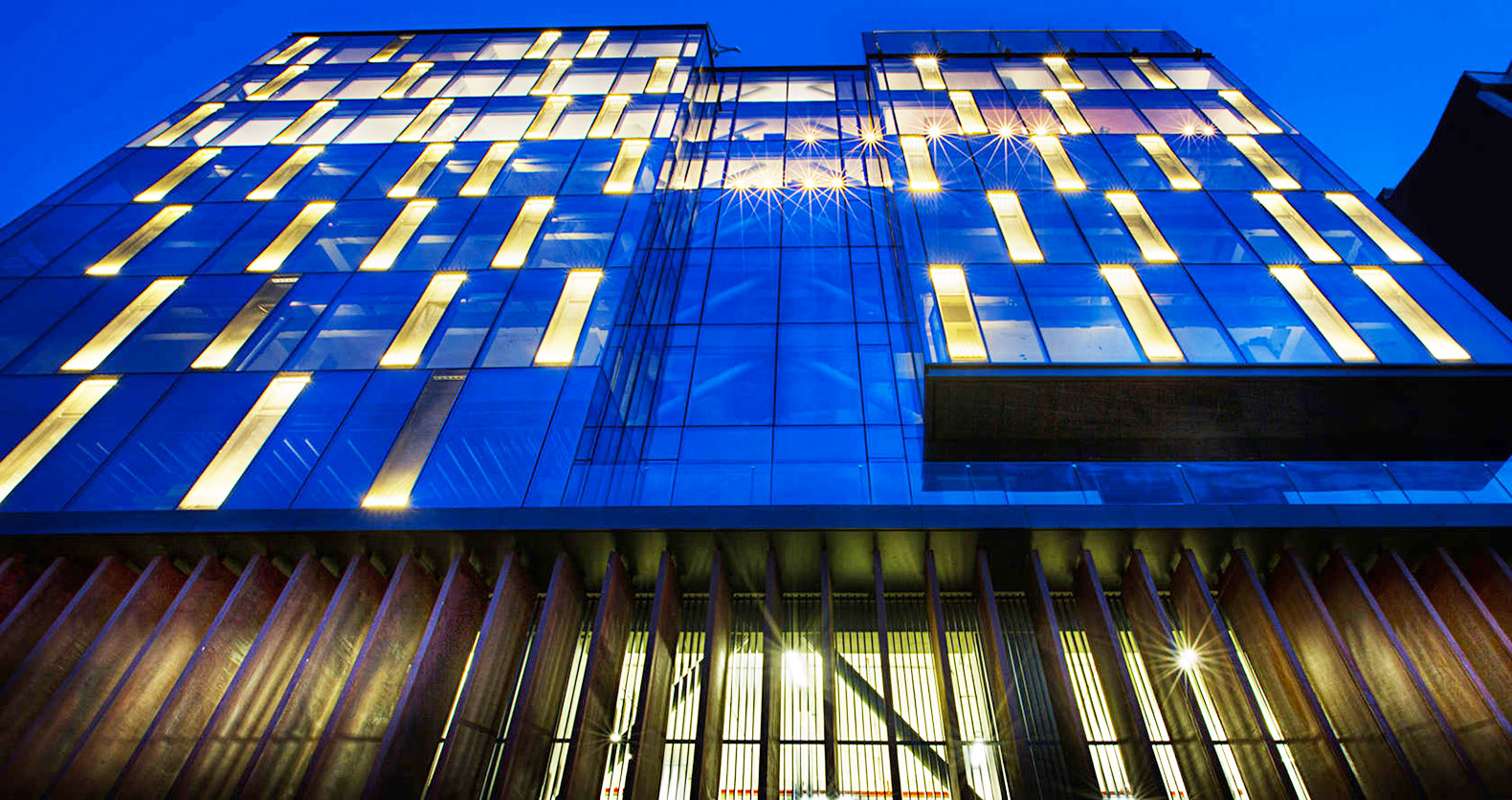 AVCI Architects Transformed A Derelict Building Into A Striking LED Lit  Headquarters