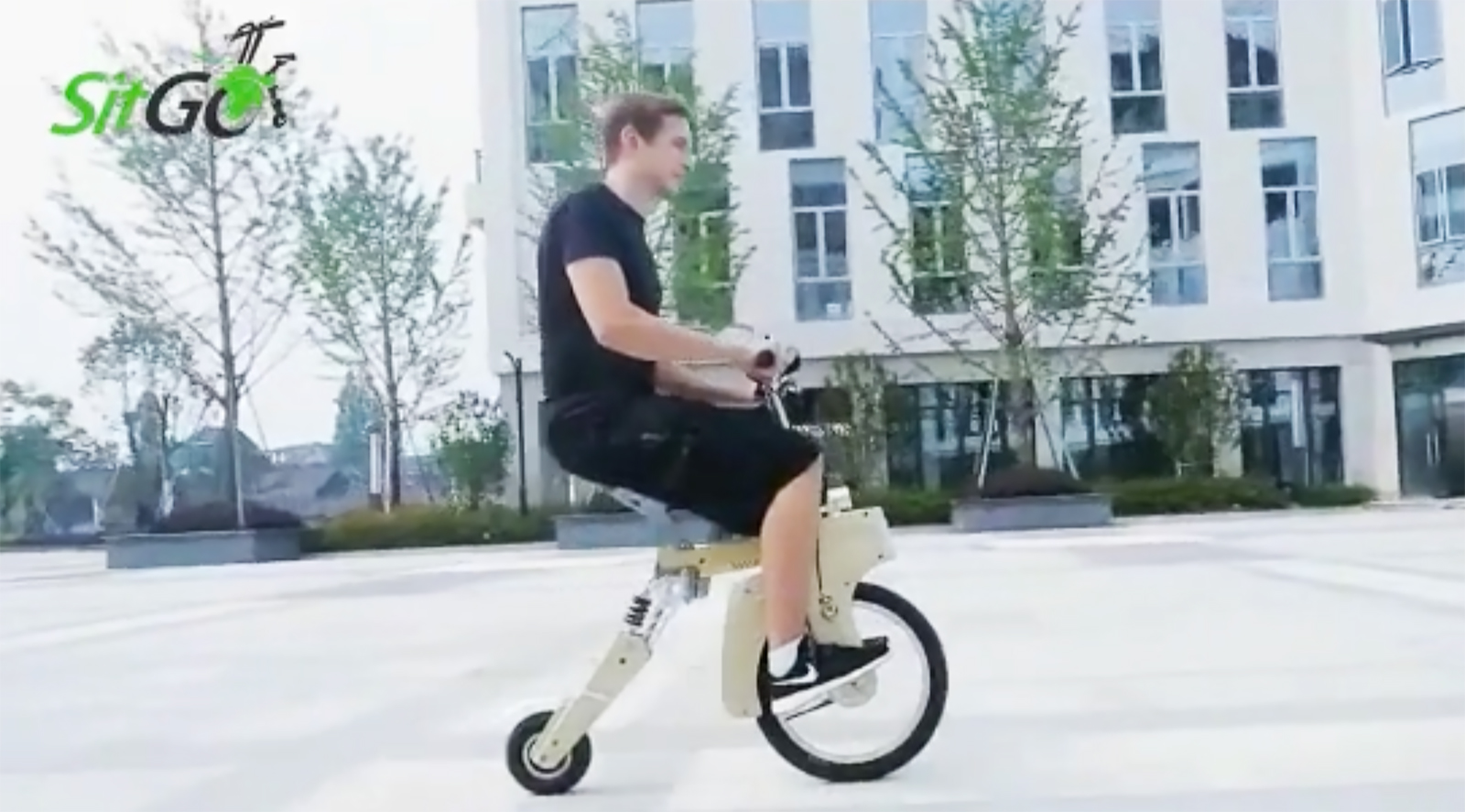 Sitgo Is A Foldable Electric Bike That Charges Using A