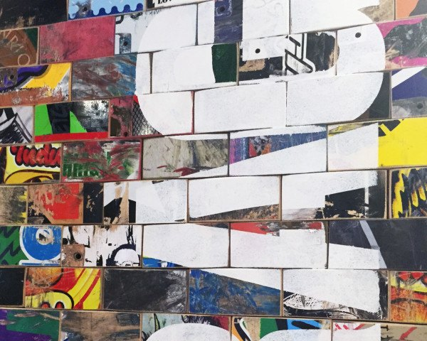 green design, eco design, sustainable design, Art of Board, recycled skateboards, Macy's on 34th Street, recycled art, recycled tile, sustainable interiors, ! Ride I Recycle