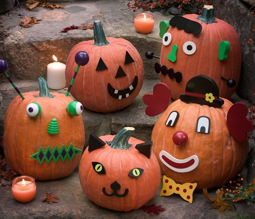 13 kid friendly halloween pumpkin decorating ideas - Calabazas decoradas para halloween ...