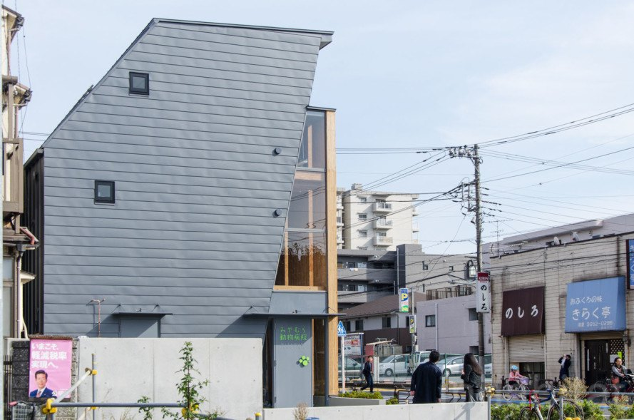 Atelier OPA, LVL, Tokyo, japanese architecture, Wood, wooden architecture, hospital, animal home, Miyamura, veterinary hospital, colorful, fireproof building, fireproof material, tokyo architecture