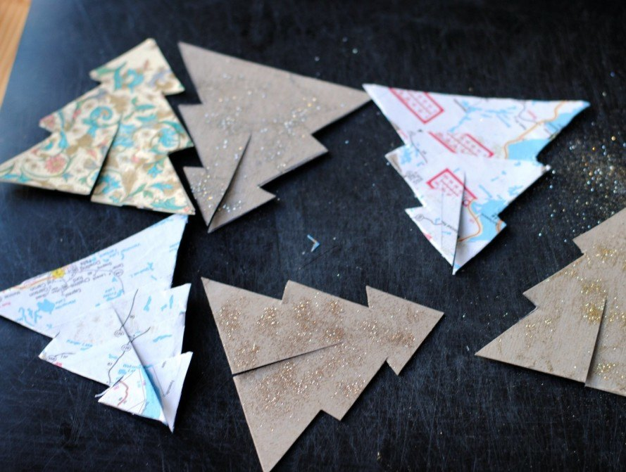 craft, DIY, how-to, paper, recycled, eco, Christmas, holiday, decor, decoration, paper