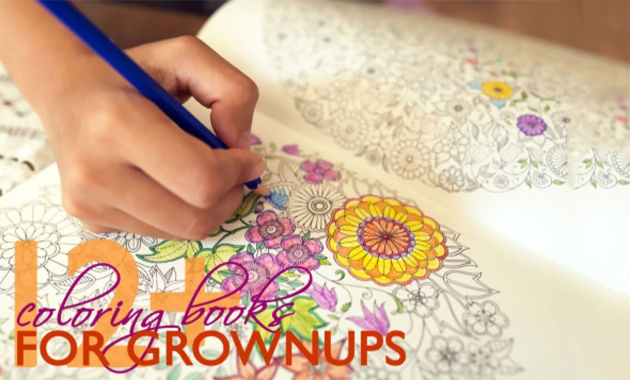 adult coloring books, coloring books, best adult coloring books, best coloring books, Inhabitots, meditation, stress relief, art, coloring book art, round-up