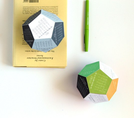 Diy Make Your Own Clever 3d Dodecahedron Calendar For