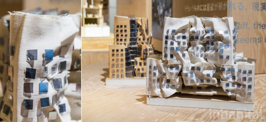 "The UTS project at ""I have an idea"" exhibition of Frank O. Gehry models at 21_21 Design Site on Tokyo"