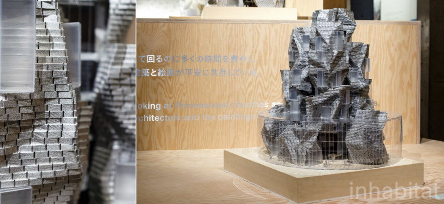 "The Luma Foundation project at ""I have an idea"" exhibition of Frank O. Gehry models at 21_21 Design Site on Tokyo"