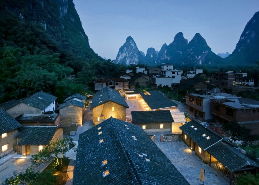 Ares Partners, Yun House Boutique Hotel, boutique hotel design, hotel design, Atelier Liu Yuyang, China's Yangshuo County, hotel design, eco-resorts, Li River valley, rammed-earth bricks, rammed-earth design, timber construction, green design, sustainable building, traditional building materials