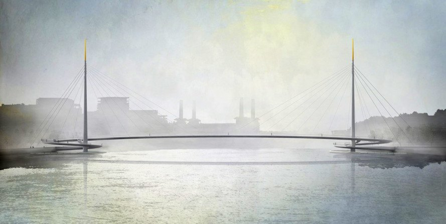 Bystrup, Robin Snell and Partners, Pimlico to Battersea Bridge, Nine Elms, Wandsworth Council, Sustainable Design London, Pedestrian Cycle Bridge London, River Thames Bridge, River Thames Crossing