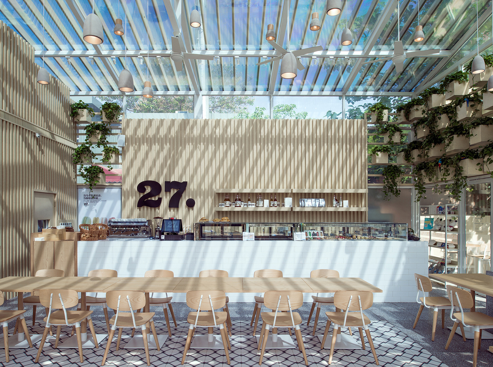 sustainable restaurant furniture. Beijing Cafe Shaped Like A Greenhouse Is Filled With Air-purifying Plants Sustainable Restaurant Furniture