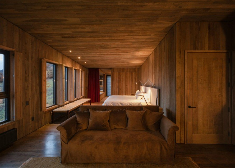 Felipe Assadi Architects, Awasi Hotel, Torres del Paine National Park, Patagonia hotels, timber hotels, timber cabins, Lake Sarmiento, Lake Sarmiento cabins, beech wood, wooden cabins, patagonia cabins, green design, wooden hotels, sustainable design