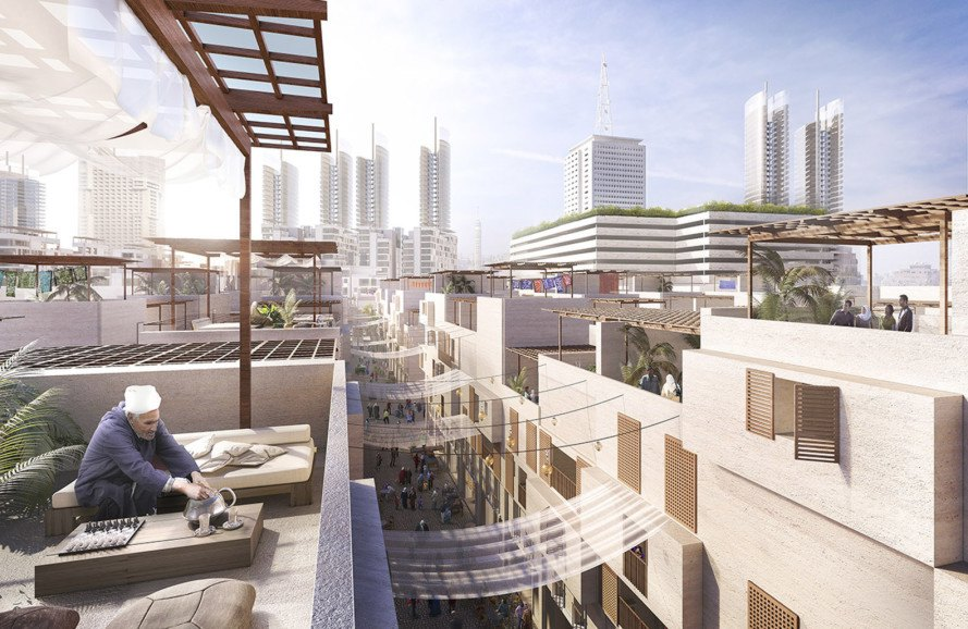 Foster + Partners, Maspero Triangle District, Cairo, masterplan, green masterplan, green neighborhood, pedestrian-friendly neighborhood, Maspero Triangle District, urban regeneration, Egypt