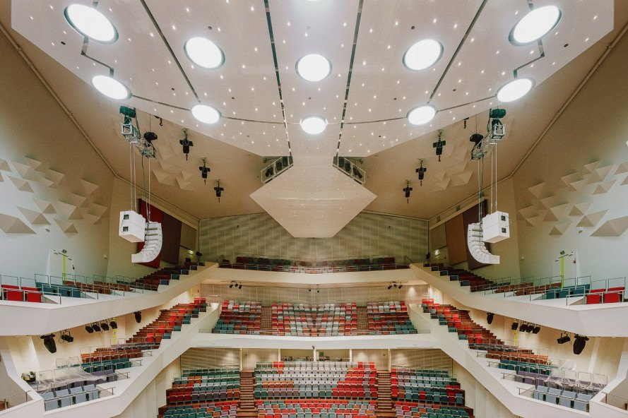 great amber concert hall, liepaja concert hall, latvia concert hall, volleyer giencke, liepaja symphony orchestra, concert hall, daylighting, latvia cultural district