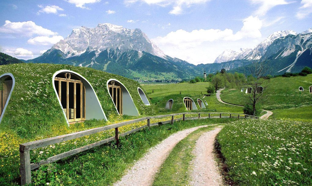 Hobbit Style Homes a green-roofed hobbit home anyone can build in just 3 days