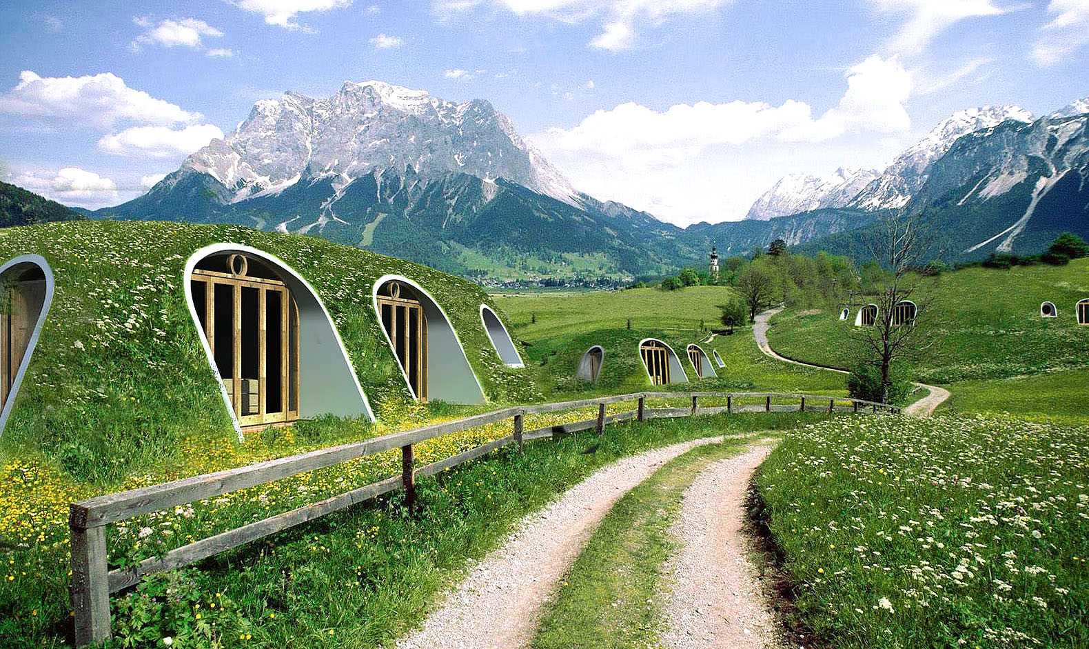 A Green Roofed Hobbit Home Anyone Can Build In Just Days Green