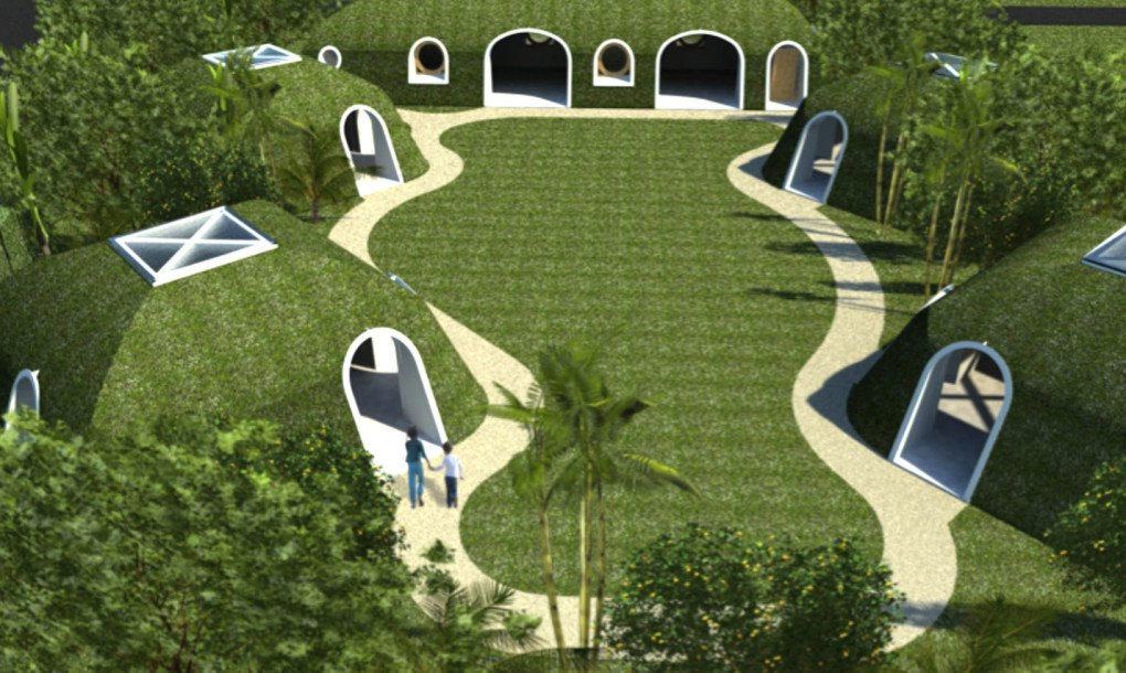 Hobbit Homes a green-roofed hobbit home anyone can build in just 3 days