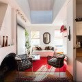 Stylish 325-sq-ft studio uses a clever design trick to
