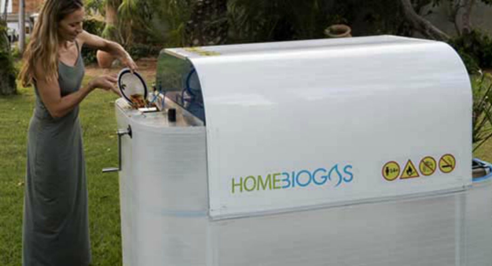 Home sized biogas unit lets you convert your own organic for Household waste design
