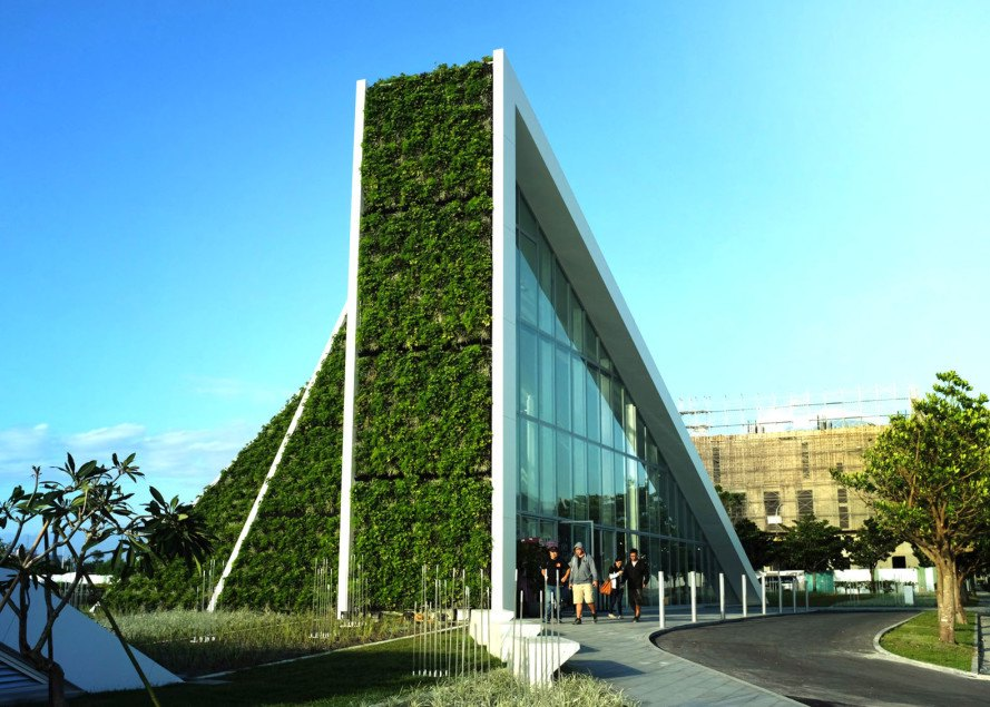 Hualien Wellness & Residential development, Taiwan, BIG, Bjarke Ingels Group, green roof, holiday home, active lifestyle, floor-to-ceiling windows, vernacular architecture, green architecture