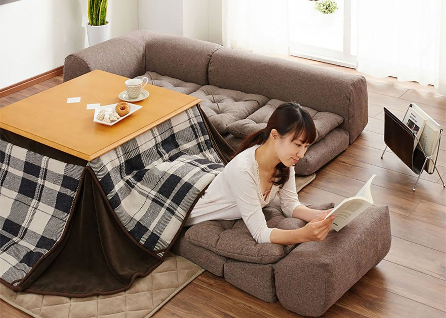 Anese Kotatsu Heated Table Bed Design