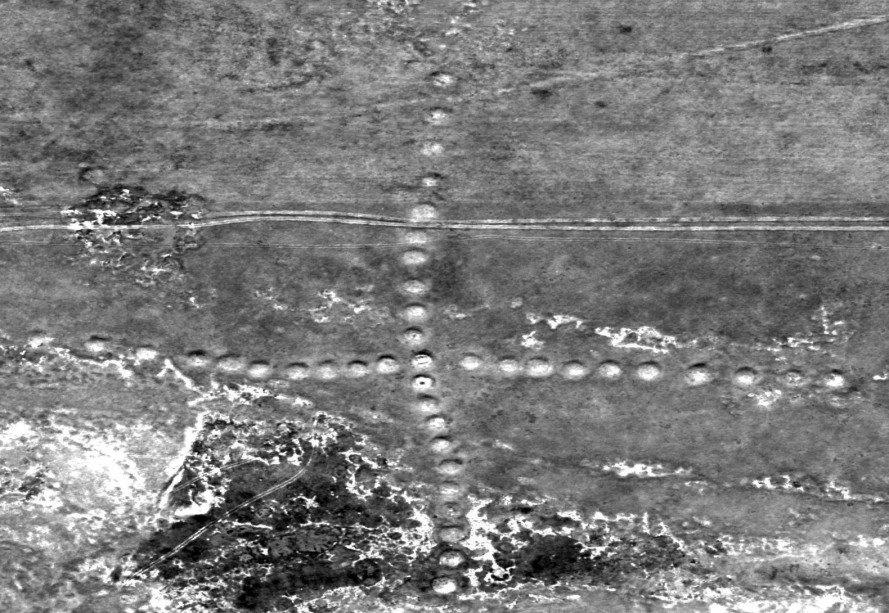 NASA, satellite images of Earth, Kazakhstan, geoglyphs, ancient earthworks, ancient patterns carved into earth