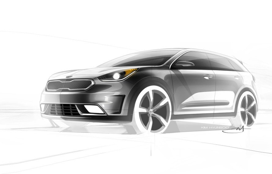 Kia Niro hybrid crossover teased ahead of its debut next year