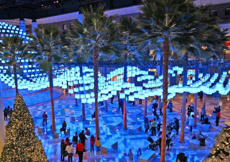 led luminaries brookfield place winter garden holiday display - Winter Garden Nyc