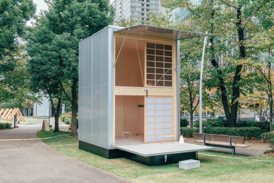 MUJI, Muji Hut, tiny houses, tiny homes, Hut of Aluminum, Hut of Cork, Hut of Wood, Konstantin Grcic, Naoto Fukasawa, Jasper Morrison, japan tiny housing, japan tiny houses, MUJI tiny houses, Design Touch, Design Touch 2015, Tokyo
