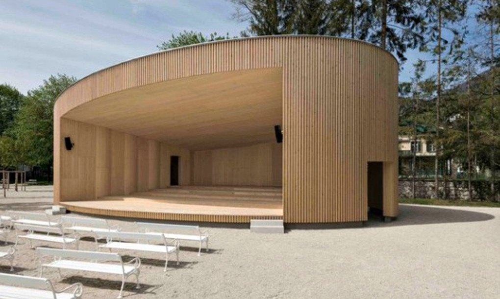 Elliptical Music Pavilion In Austria Is Made From Locally