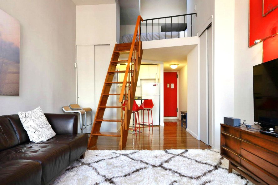 Rent This Modern 48squarefoot Greenwich Village Loft On Airbnb Simple One Bedroom Apartments In Nyc For Rent Minimalist Interior