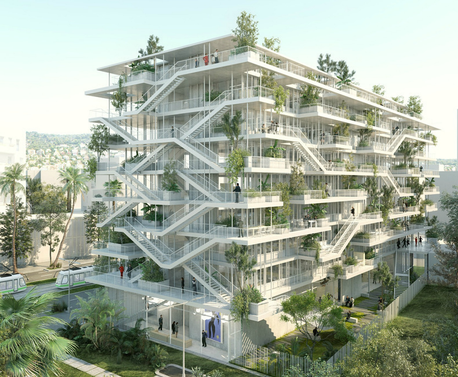 French architects unveil plans for bio climatic inside for Architecture building design