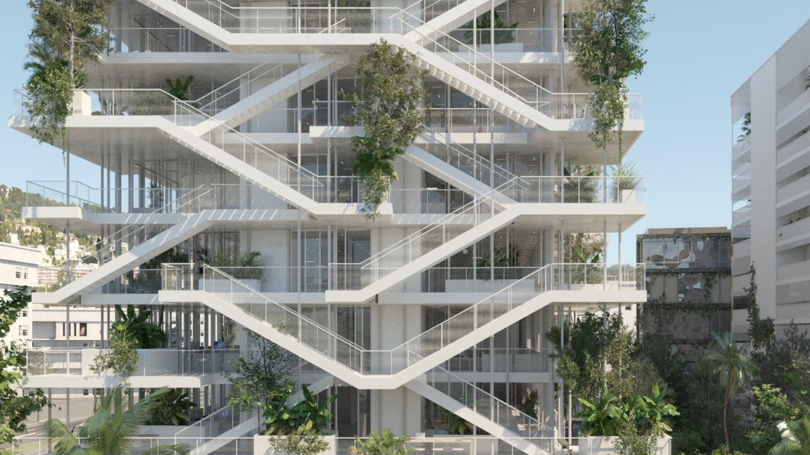 French architects unveil plans for bio climatic 39 inside for Office building designs and plans