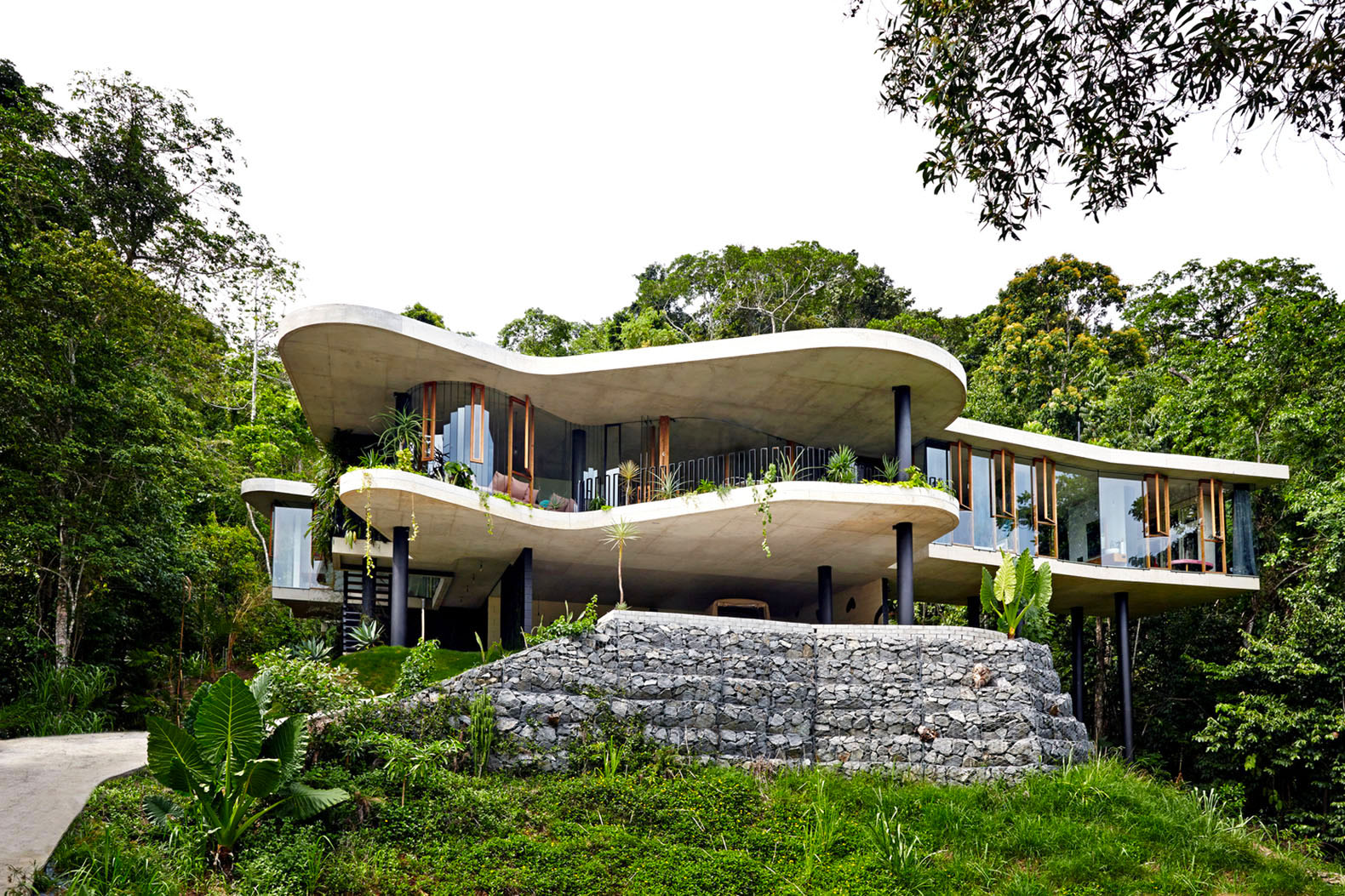 Charming Low Impact Planchonella House Meanders Through Queenslandu0027s Lush Tropical  Forest