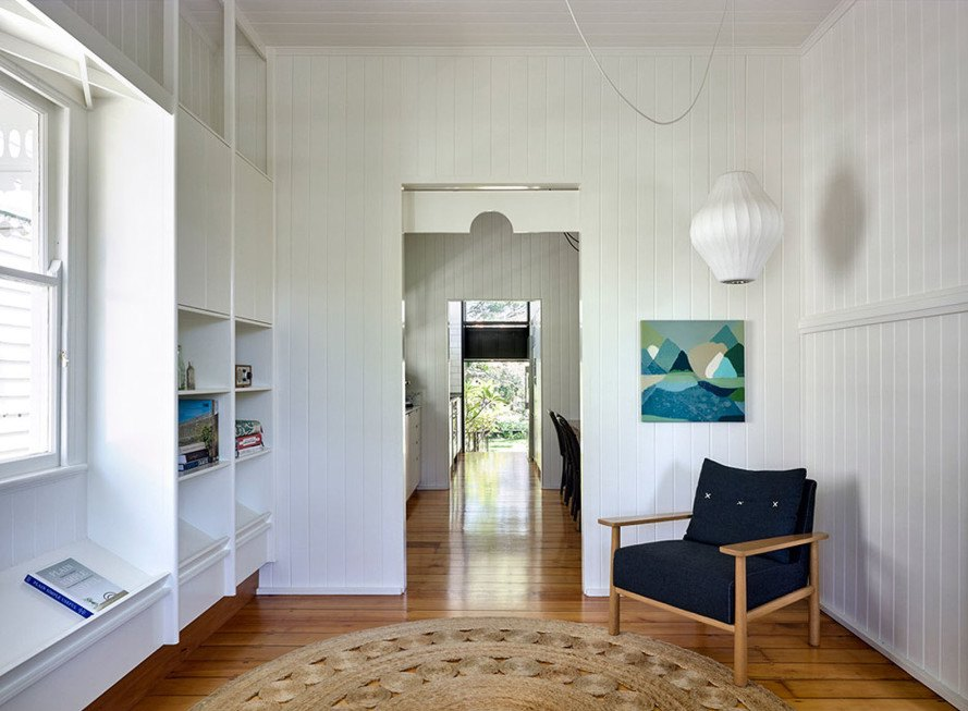 Queensland, Queenslander bungalow, Australia, Vokes and Peters, green renovation, heritage buildings, wooden facade, timber, green extension, timber architecture