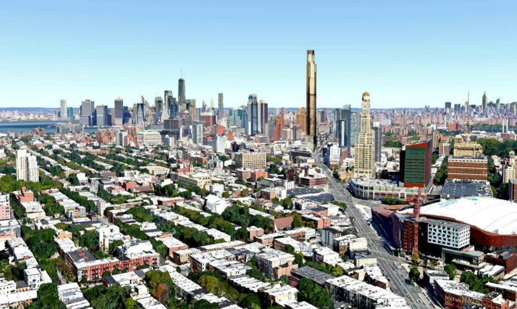 Rendering Unveiled For Brooklyn S First Supertall Tower