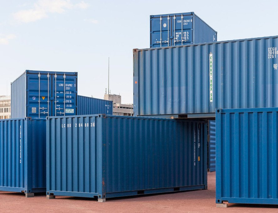 Bureau a recreates stonehenge with stacked shipping containers