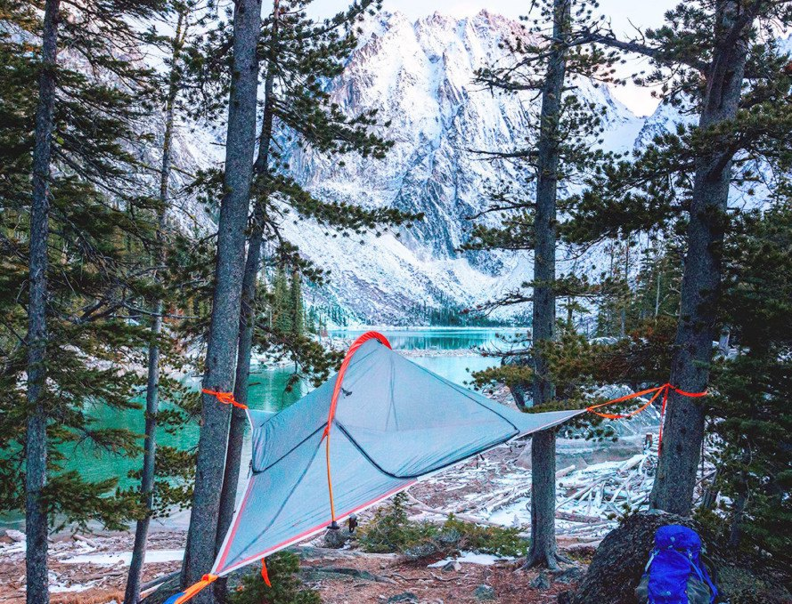 Flite, Flite tent, Tentsile Flite, Tentsile, tree tent, suspended tent, portable treehouse, camping, suspended camping, hammocks