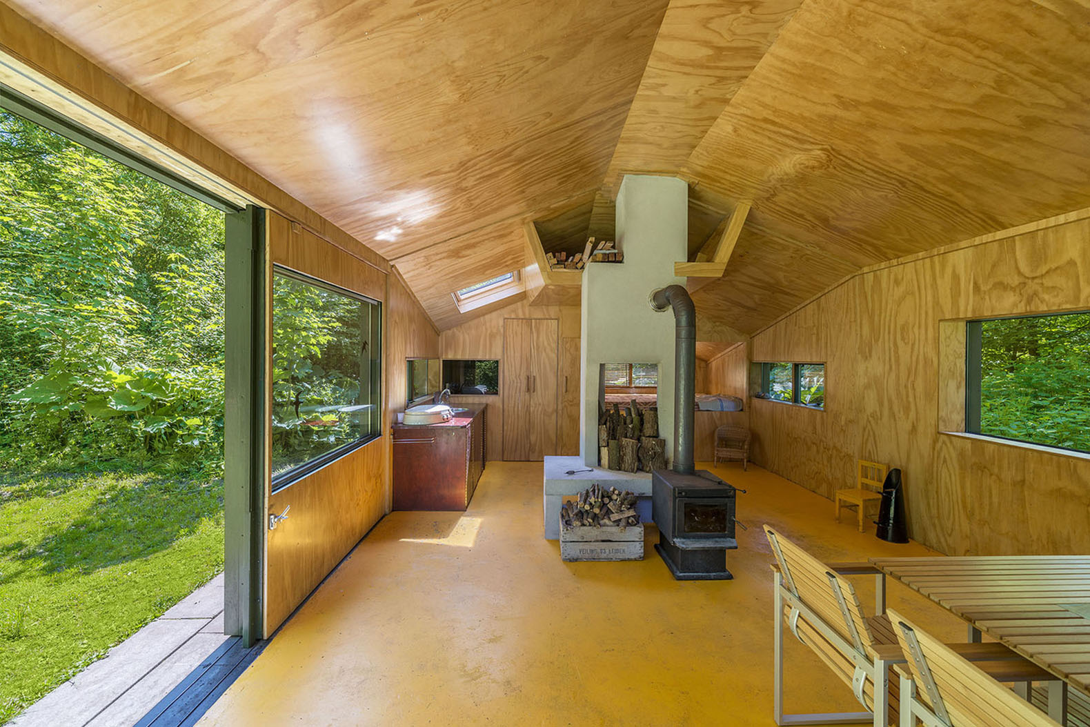 Camouflaged Thoreau Cabin In The Woods Of Utrecht Has No