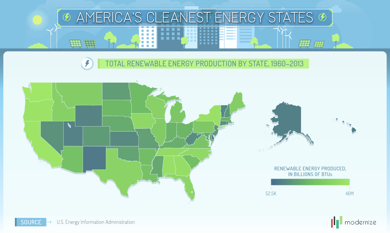 Clean Energy Report A Closer Look At Renewables In The United - Renewable energy map us
